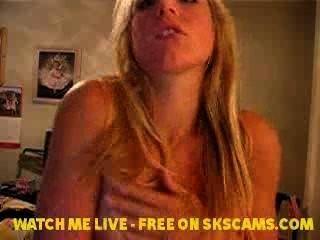 hot blonde Babe playng mit ihre Brüste