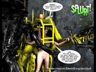 3D-Comic: spermaliens. Folge 2
