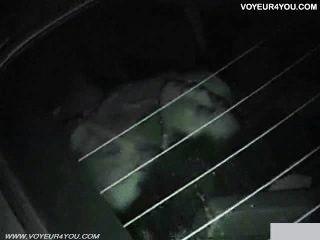 Autositz in der Nacht verdammt