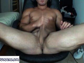 alain Lamas Webcam Arsch & cum Show