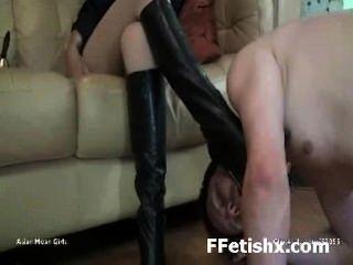 missbräuchlichen Bein Fetisch-Sex für Mädchen