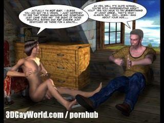 Zimmer mieten 3d Homosexuell Cartoon Comics oder College-Junge ersten Mal Sex animiert
