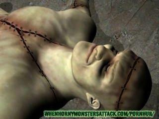3D-Monster Porno: frank und Babe ficken