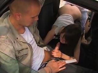 modischen jugendlich Dreier im Auto