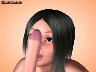 animierte lecken Arschloch und tun Wichsen
