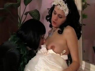 alt junge lesbische Mutter Braut