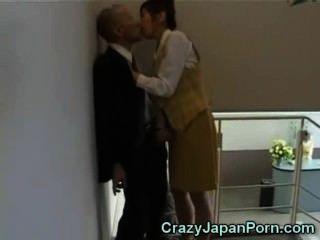 verrückt Wichsen in Tokio Büro!