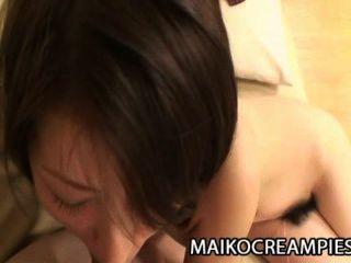eri Sagawa - süße haarige japanische Muschi von hinten gebohrt