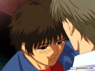 Hentai Homosexuell Paar einen sanften Kuss mit