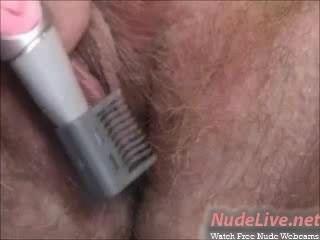 sehr heiß Amateur blonde Teen Rasuren und beizbrühen auf Webcam
