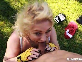 Königin bbw samantha 38g klopft Boxen Lehrer mit Titten