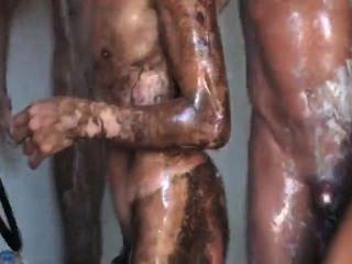 mastsuri japanische Duschbad, gerade Jungs, 1 Boner.