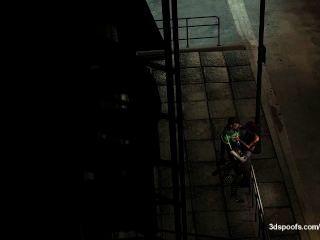 Green Lantern und Bogen Licht ein wenig frech unter den Straßenlaternen bekommen