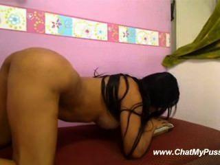 Mädchen Dildo Reiten auf Webcam - chatmypussy.com