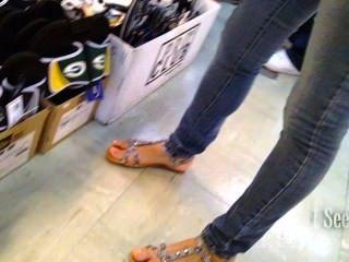 Füße und Sandalen Faceshot