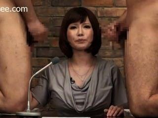 japanische Nachrichtenanker bekommt Gesicht cum