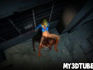 hot 3d supergirl hart von spiderman gefickt