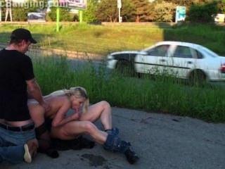 schockierende Sex Gang Bang Orgie Teil 4 öffentliche Straße Gruppe