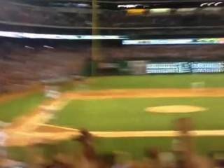 Ficken auf dem Baseball-Spiel