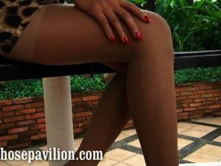 sexy nonnude Strumpfhosen Bein tease Vorschau von heißen Thailand Modell Xanny