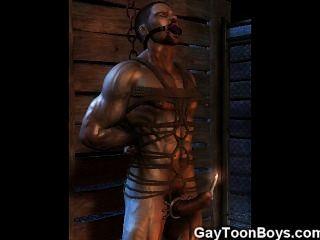 3d Muskel Homosexuell ficken gerade Jungs!