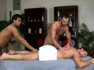 Doppel männliche Masseure Massage Hunk