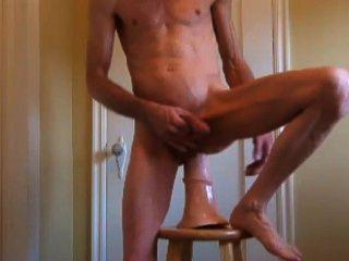 Trojanisches Pferd Penis, rasiert harten Schwanz und gedehnt Arsch ficken und Fisting